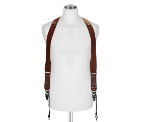 Sideburns Black Nylon Large | Double Harness Brown