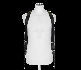 Sideburns Black Nylon S/M | Double Harness
