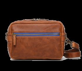 Crosby Leather Camera Bag Cognac