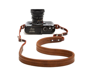 Oslo | Leather Camera Strap Cognac