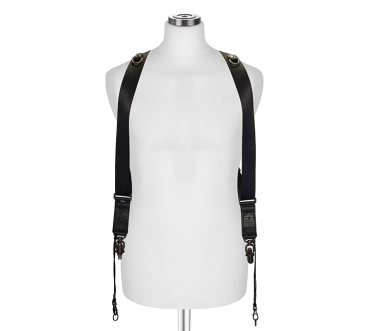 Sideburns Black Nylon Large | Double Harness Black