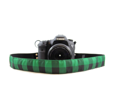 Green Plaid | Camera strap for him Green