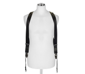 Sideburns Black Nylon S/M | Double Harness