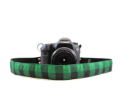 Buffalo Plaid Scarf Strap Green
