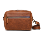 Crosby Leather Camera Bag Cognac